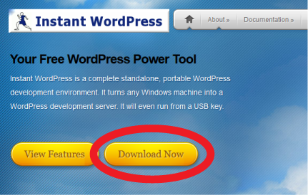 Instant WordPressのサイト1