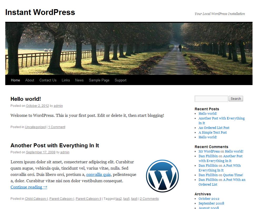 WordPressローカルサイト